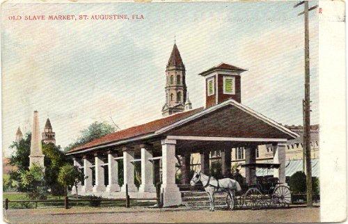 1900 Vintage Postcard Old Slave Market - St.