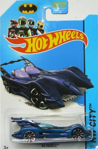 Hot Wheels Batman 75th Anniversary 2014 Hw City Blue Batmobile 62/250 - 1