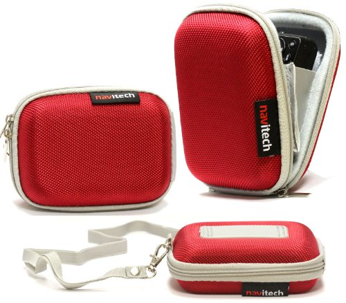 navitech-red-water-resistant-hard-digital-camera-case-cover-for-the-evoplus-mirage-60m-veho-vcc-003-