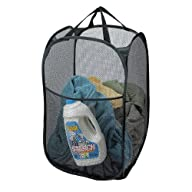 Deluxe Pop-up Laundry Hamper (Black)