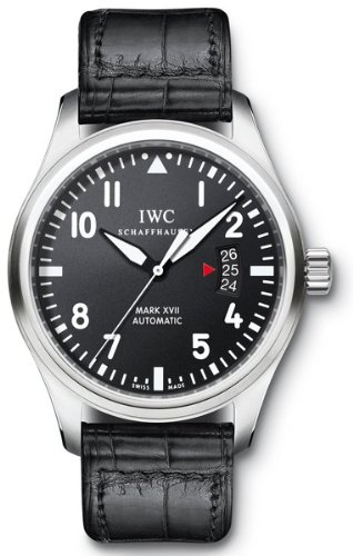 IWC Pilots Mark XVII Black Alligator Mens Watch IW326501