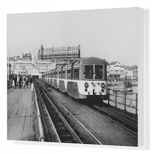 Canvas Print Of Pier Train/Southend