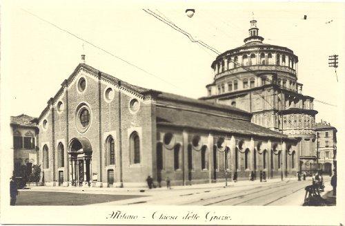 1920s Vintage Postcard Chiesa delle Grazie Milan