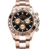 ROLEX DAYTONA EVEROSE GOLD WATCH WITH BLACK DIAL 116505 BOX/PAPERS UNWORN 2016