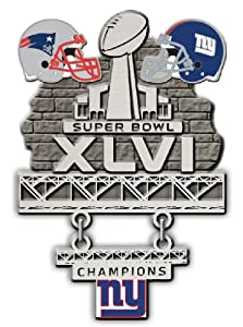 NFL New York Giants Limited Edition Super Bowl XLVI Champions Collectors Pin with Dangle