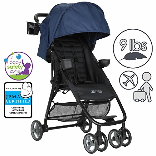 Read About ZOE XL1 BEST Xtra Lightweight Travel & Everyday Umbrella Stroller System (London Navy)