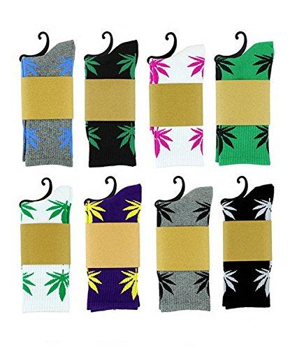 zando-marijuana-foglia-di-marijuana-stampato-cotone-calze-lunghe-5-pack-randomly-choose-taglia-unica