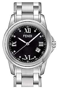 Fendi Loop Large Round Black Dial and Bracelet Quartz Watch - F235110