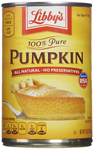 Libby's 100% Pure Pumpkin Pie & Dessert Filling (Pack of 3) 15 oz Cans