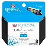 Rite Aid Renewal Razor Refills, for Men, Tri-Flex, 3 Blade, 8 ea