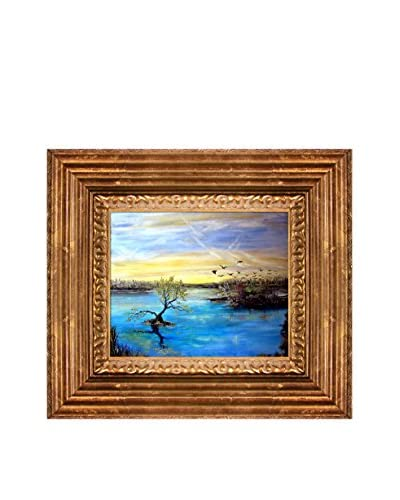 Susan Art The Birds Framed Canvas Print