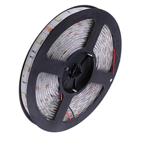 Ggl Superbright 5050 Smd 300-Led Green Flexible Pcb Led Strip Light Flash Lamp Ribbon With Self-Adhesive Tape Backing 16.4Ft 5M Per Reel - Waterproof Ideal For Various Residential Industrial Commercial Decorative Lighting Applications