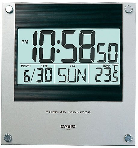casio square resin digital wall clock 236 cmx221 cmx24 cm