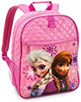 Disney Store Frozen Princess Elsa and Anna Backpack/Daypack for School Supplies
