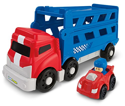 Fisher-Price Little People Wheelies Sports Car Carrier - 1