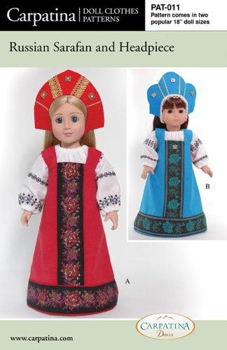 """Pattern For Russian Sarafan - Fits 18"""" American Girl Dolls front-651572"""