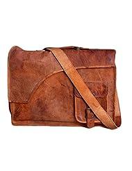 NK Vintage Leather Cross Shoulder Sling Messenger Bag