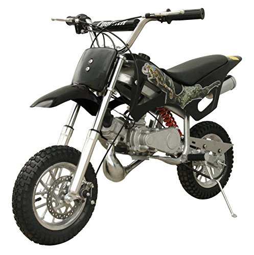 49cc 50cc 2-Stroke Gas Motorized Mini Dirt Pit Bike (Black) (Cheap Mini Dirt Bikes compare prices)
