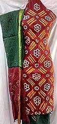 Shubh Women's Dress Material (8491CDWMRGR_Maroon Green_Free Size)