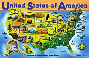 Melissa & Doug Deluxe Wooden USA Map Puzzle from Melissa & Doug