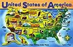 Melissa & Doug Deluxe Wooden USA Map...