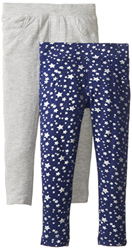 Freestyle Revolution Little Girls' Glitter Star Print French Terry Jegging Set, Multi, 6 front-932586