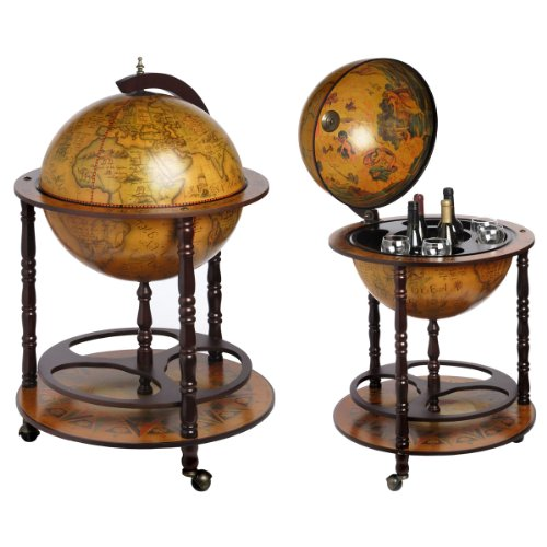 Ancient World Globe Map Drinks Cabinet Bottle Holder