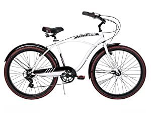 Huffy Mens Newport Cruiser Bike, Gloss White, 26-Inch Medium by Huffy