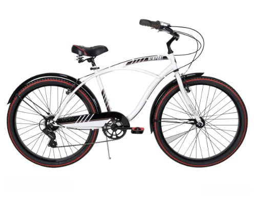 Huffy Men's Newport Cruiser Bike, Gloss White, 26-Inch/Medium
