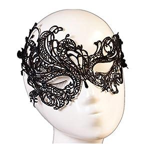 JY Jewelry Sexy black Lace Eye Mask Nightclub Womens Gothic Black Lace Half Face Mask Costume Jewelry from JY Jewelry