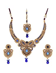 Shahenaz Jewellers 24 Ct Gold Plated Bridal Jewellery Set For Women - B00R2IO6KI