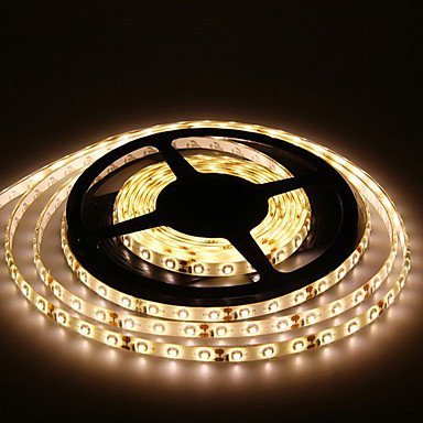 M.M 5M 300X3528 Smd Warm White Led Strip Light And Connector And Ac110-240V To Dc12V3A Transformer