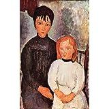 """Kunstdruck (Amadeo Modigliani - Zwei M�dchen) als Poster, Leinwandbild, Dibondbild oder auf Acrylglas in verschiedenen Formatenvon """"bilder-bilderrahmen.de"""""""