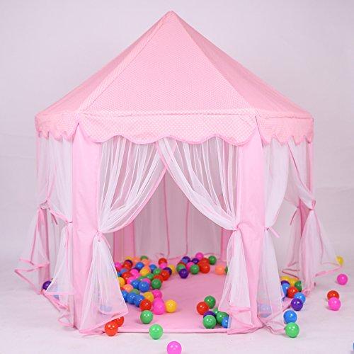 "Kids Princess Tent,55""x 53""(DxH),LifeVC Indoor Girls Large"