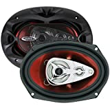 BOSS Audio CH6940 Car Speakers - 500 Watts Of Power Per Pair And 250 Watts Each, 6 x 9 Inch, Full Range, 4 Way, Sold in Pairs, Easy Mounting
