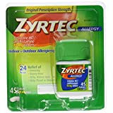Zyrtec Allergy Relief Tablets, 45 Count ~ Zyrtec