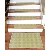 Dean Premium Carpet Stair Treads - Baron Ivory/Gold 30
