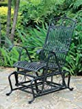 "Wrought Iron Glider (Black) (42""H x 22""W x 34""D)"