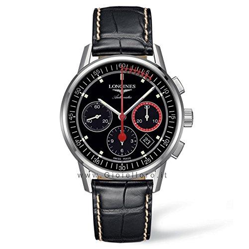 longines-colonne-de-roue-de-hommes-montre-a-quartz-avec-affichage-chronographe-cadran-noir-et-bracel