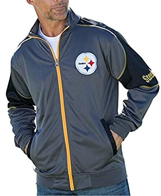 Pittsburgh Steelers NFL Mens Full Zip Tricot Track Jacket Big & Tall Sizes