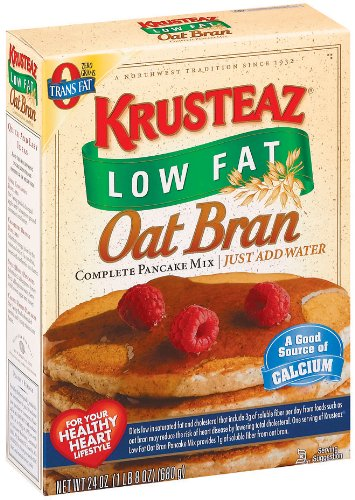 Krusteaz Low Fat Oat Bran Complete Pancake Mix, 24-Ounce Boxes (Pack of 4)