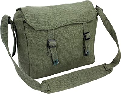 Army Travel Shoulder Military Combat Day Bag Messenger Satchel Canvas Surplus Haversack Pack from Zip Zap Zooom