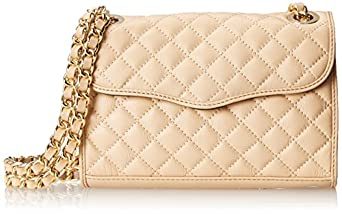 Rebecca Minkoff Quilted Mini Affair Crossbody Bag, Biscuit, One Size
