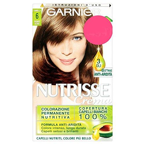 Garnier Nutrisse Colorazione Permanente Nutritiva, 6 Biondo Scuro