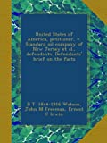 United States of America, petitioner, v. Standard oil company of New Jersey et al., defendants. Defendants brief on the facts