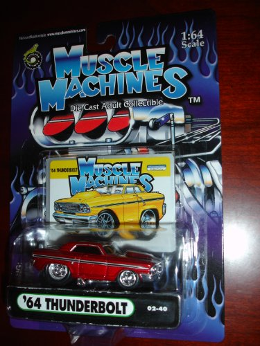 Muscle Machines 64 Thunderbolt Metallic Red