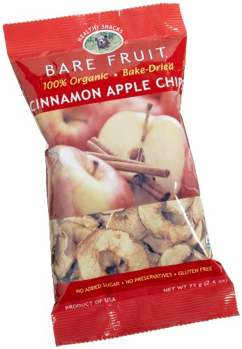 Bare Fruit 100% Organic Bake-Dried Cinnamon Apple Chips, 2.6 Ounce Bags (Pack of 12)