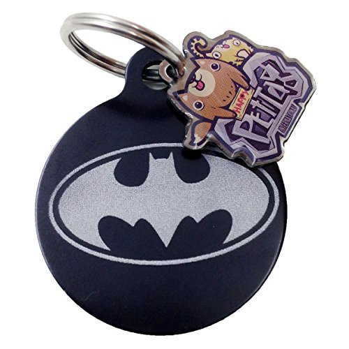 happypettag - Personalized Batman Pet ID Tag, Customized Pet ID Tags Dogs Cat ID Tags, Double Side Aluminium Engraved. Includes up to 3 Lines of Customized Text - Back (Dog Batman)
