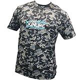 サンライン(SUNLINE) DRYカモTシャツ SCW-1321T ブラック 4L