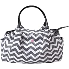 JP Lizzy Allure Designer Diaper Bag - Grey Chevron